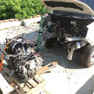 Engine/CVT Extraction (2 of 5)